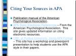 citing your sources in apa