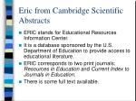eric from cambridge scientific abstracts