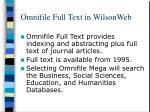 omnifile full text in wilsonweb