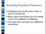 searching periodical databases