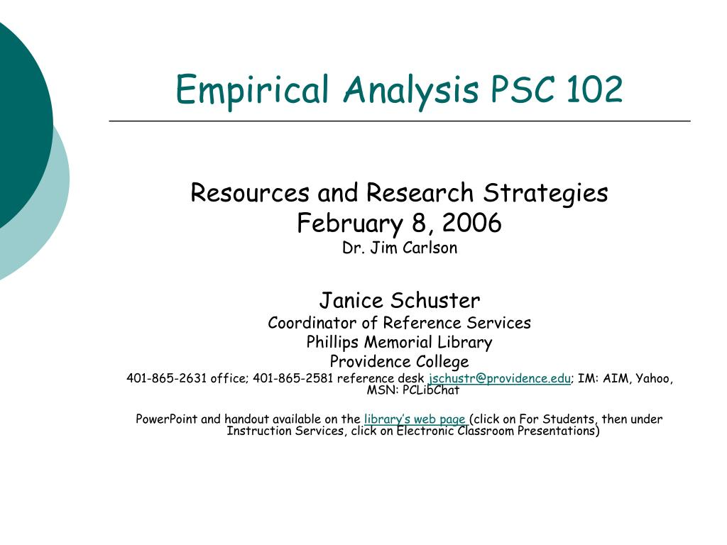 empirical analysis psc 102 l.
