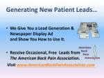 generating new patient leads