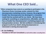 what one ceo said