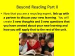 beyond reading part ii