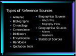 types of reference sources