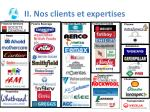 ii nos clients et expertises