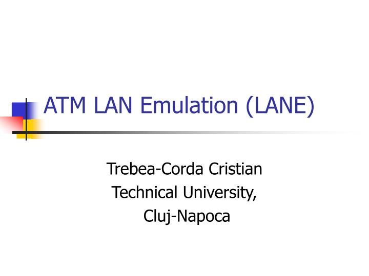 atm lan emulation lane n.