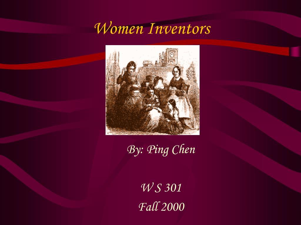 women inventors l.