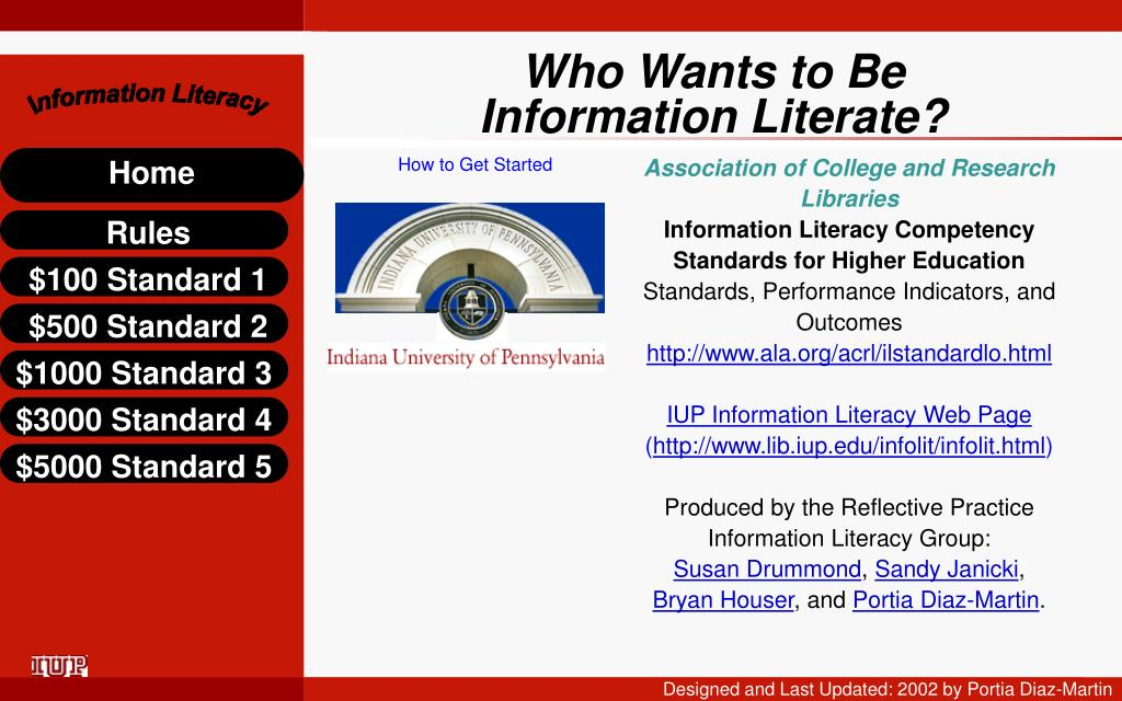 who wants to be information literate l.