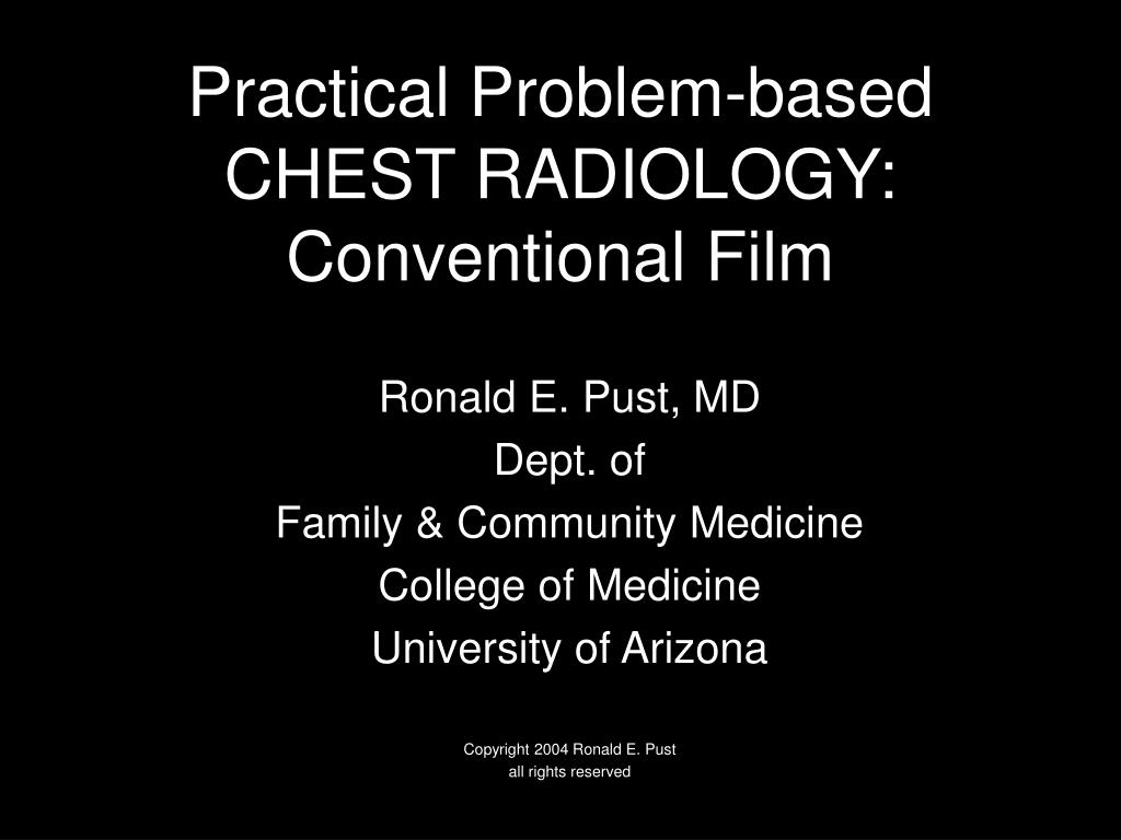practical problem based chest radiology conventional film l.