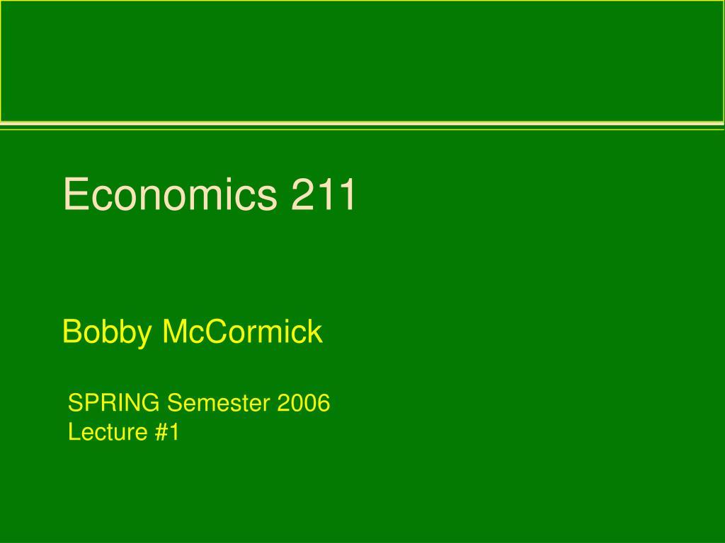 economics 211 l.