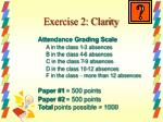exercise 2 clarity