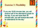exercise 3 flexibility