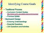 identifying course goals