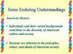some enduring understandings