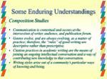 some enduring understandings11