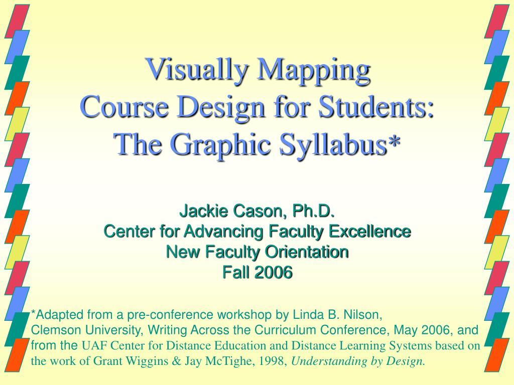 visually mapping course design for students the graphic syllabus l.