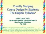 visually mapping course design for students the graphic syllabus