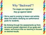 why backward