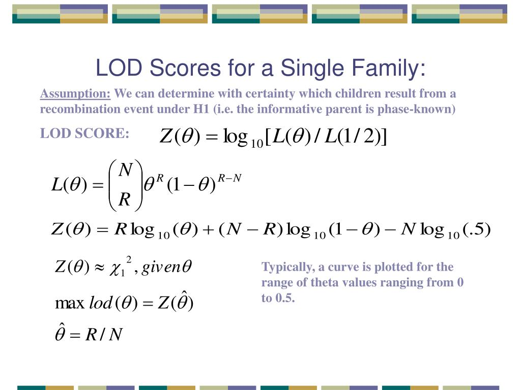 LOD Scores for a Single Family: