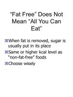 fat free does not mean all you can eat