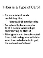 fiber is a type of carb