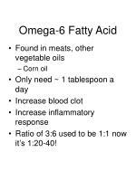 omega 6 fatty acid