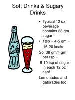 soft drinks sugary drinks