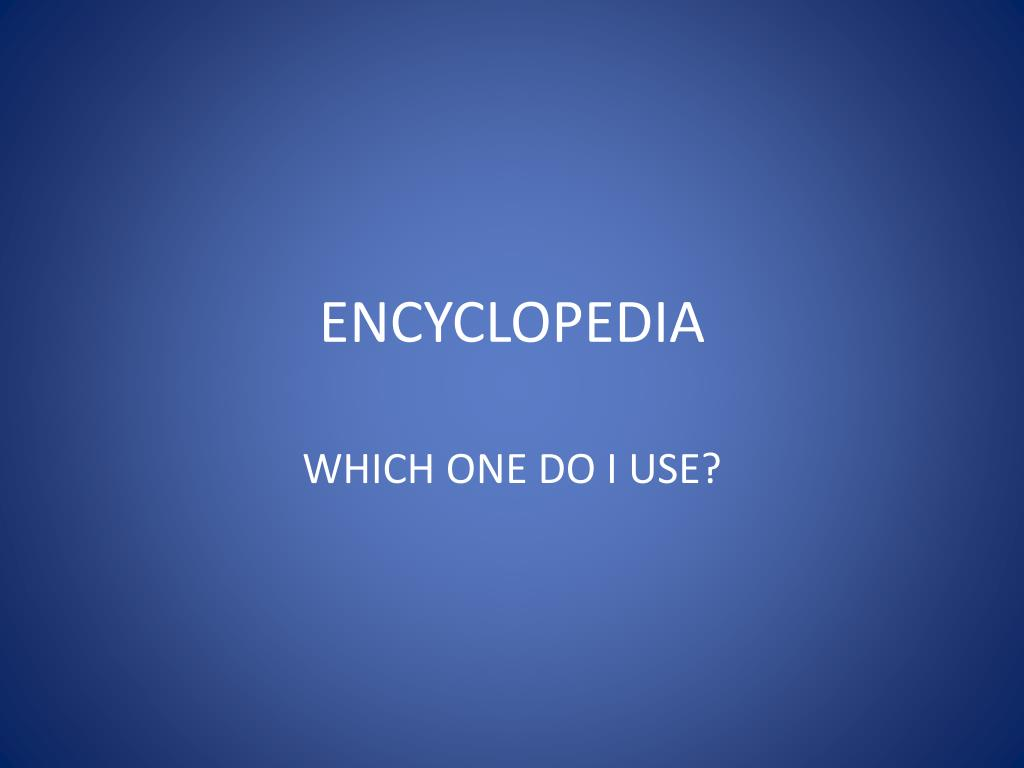 encyclopedia l.