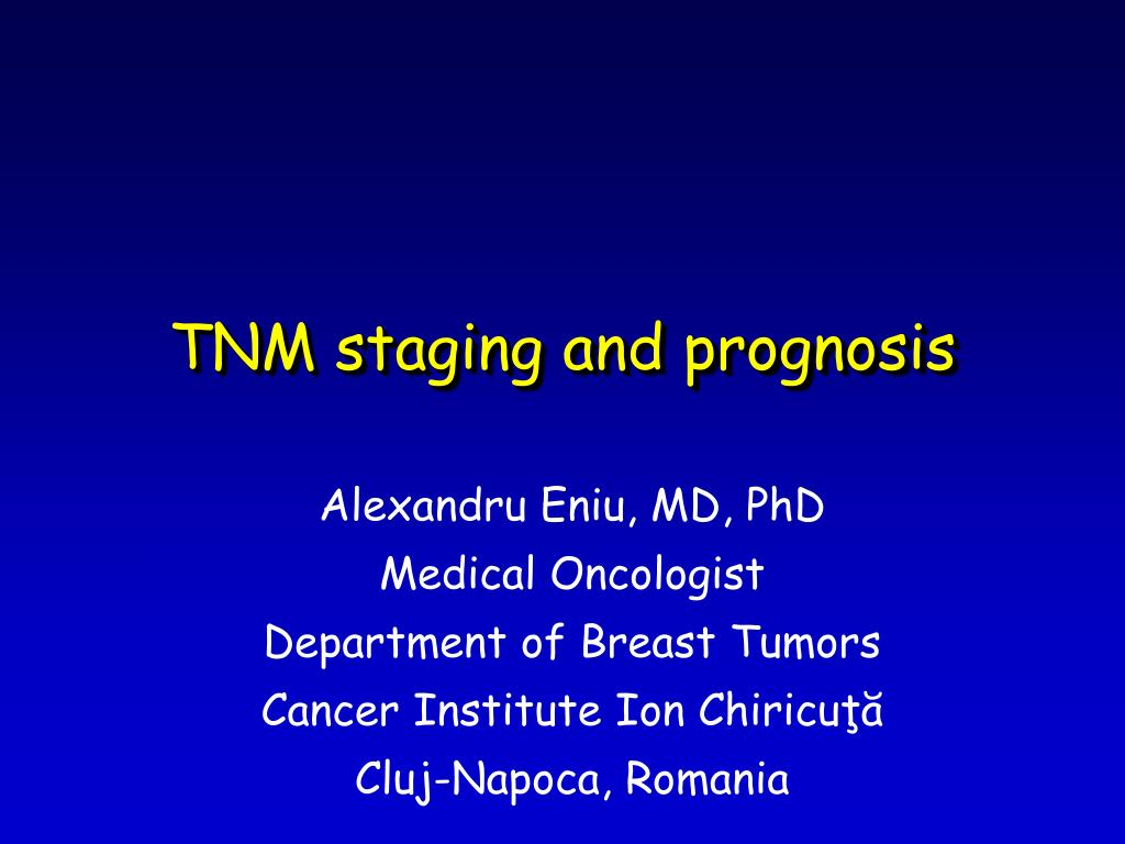 tnm staging and prognosis l.