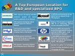 a top european location for r d and specialized bpo