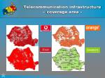 telecommunication infrastructure coverage area