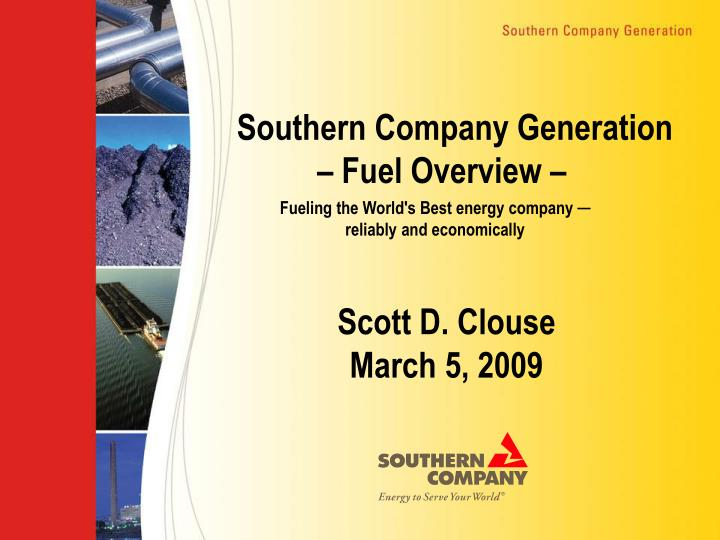 southern company generation fuel overview n.