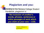 plagiarism and you