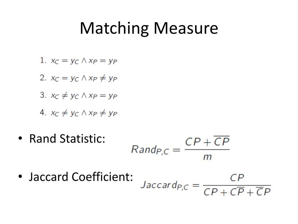 Matching Measure