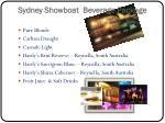 sydney showboat beverage package