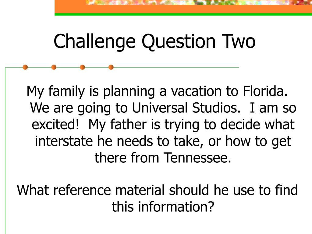 Challenge Question Two