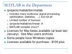 matlab in the department