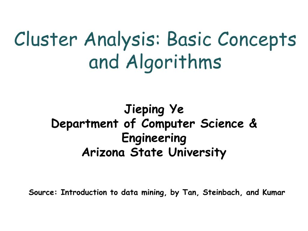 cluster analysis basic concepts and algorithms l.