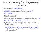 metric property for disagreement distance