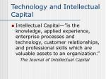 technology and intellectual capital6