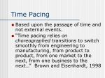time pacing