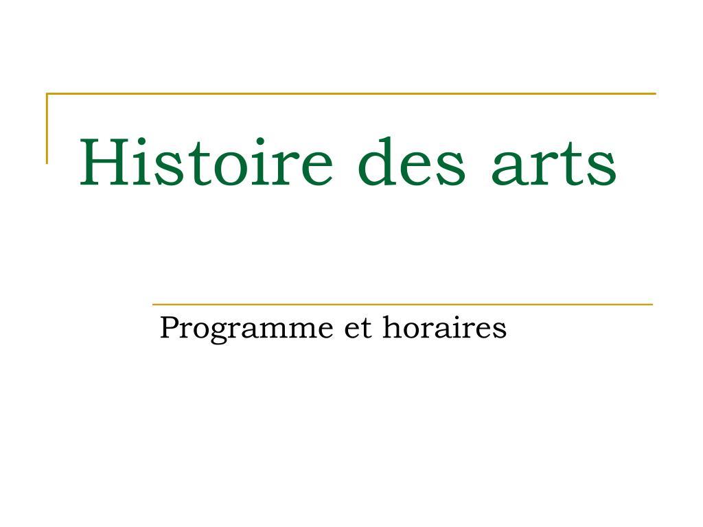 histoire des arts l.