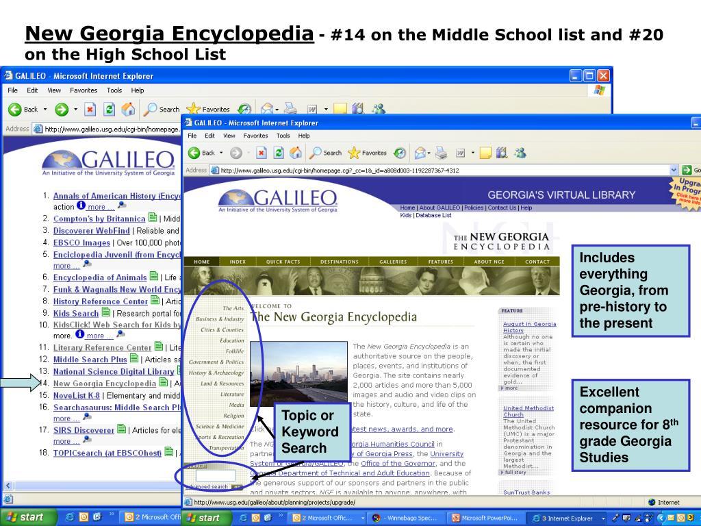 New Georgia Encyclopedia
