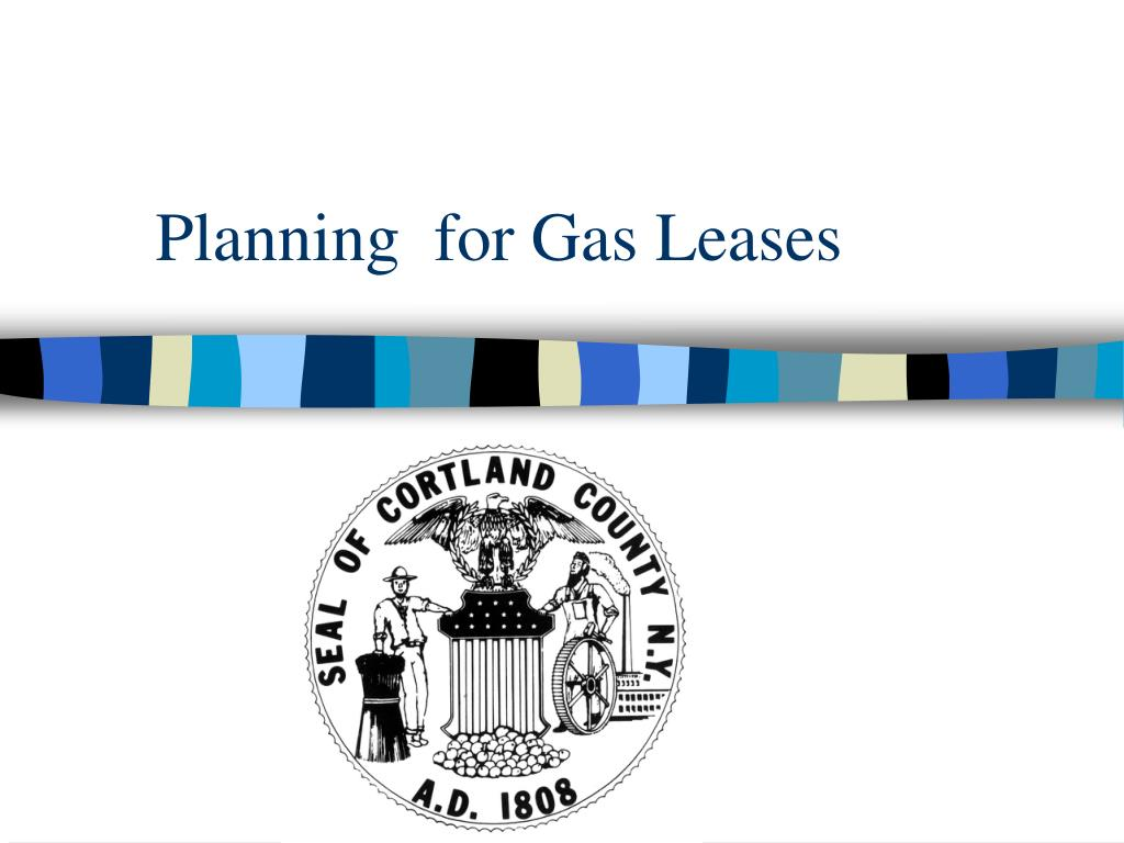 planning for gas leases l.