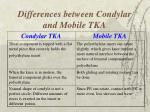 differences between condylar and mobile tka