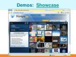 demos showcase