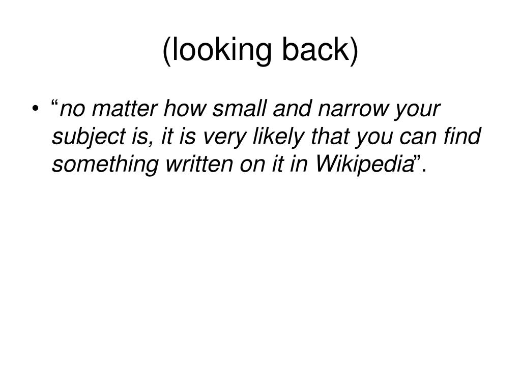 (looking back)