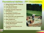 foundational abilities ppt presentations