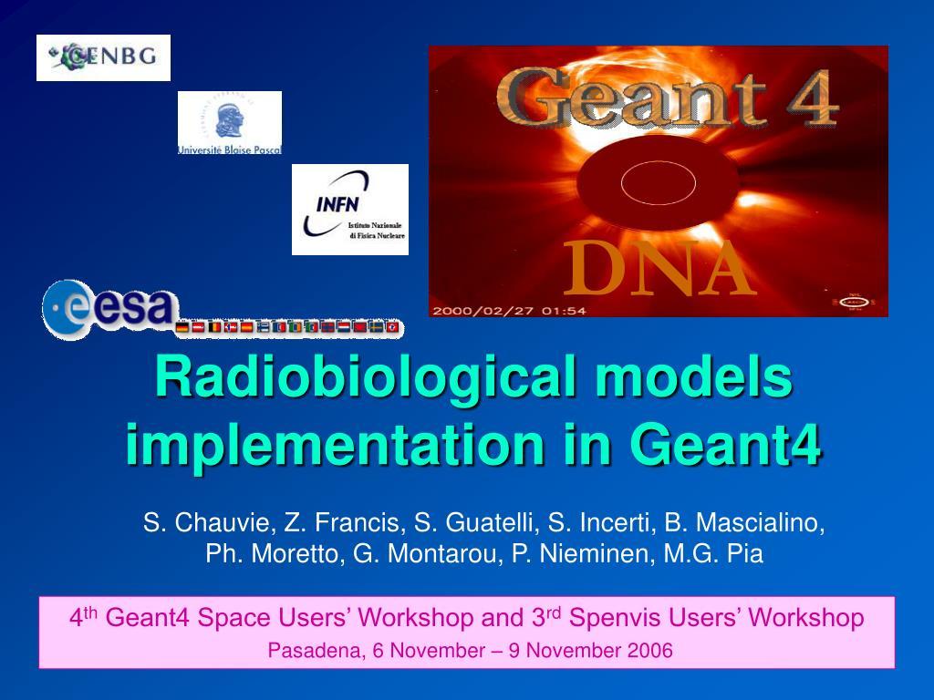 radiobiological models implementation in geant4 l.